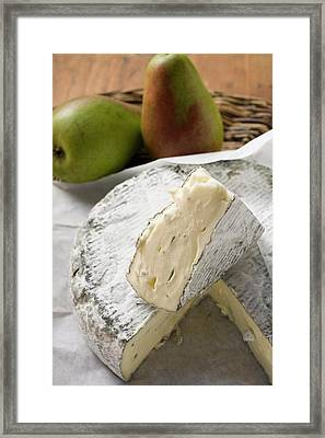 Blue Cheese (bresse Bleu, France) And Pears Framed Print