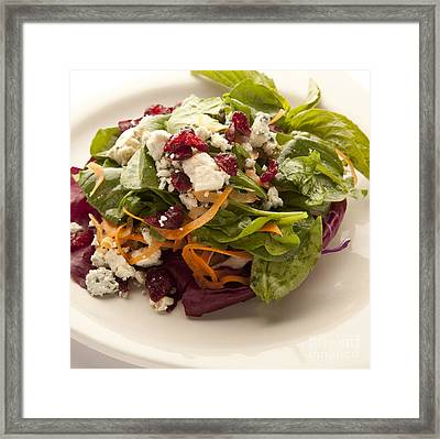 Blue Cheese Salad Framed Print by New  Orleans Food