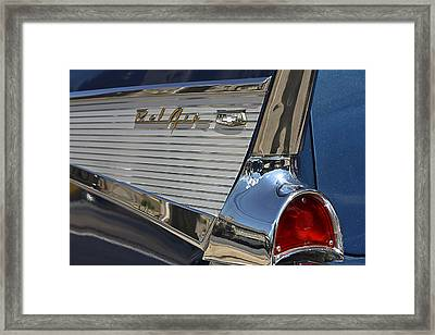 Blue Chevy Bel Air Framed Print by Patrice Zinck