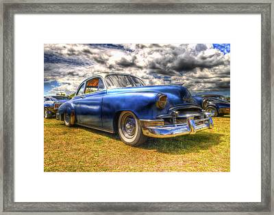 Blue Chevy Deluxe - Hdr Framed Print