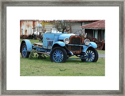 Blue Chevy  Framed Print
