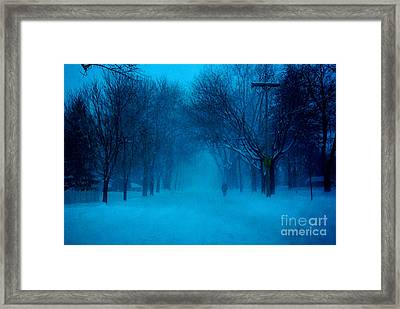 Blue Chicago Blizzard  Framed Print