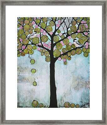 Blue Chickadee Tree Framed Print