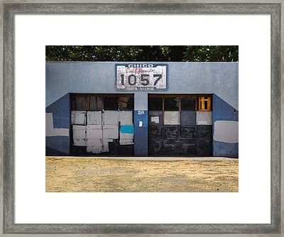 Blue Chico Framed Print by Kandy Hurley