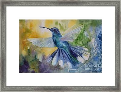 Blue Chitter Framed Print