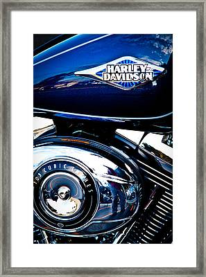Blue Chopper Framed Print by David Patterson