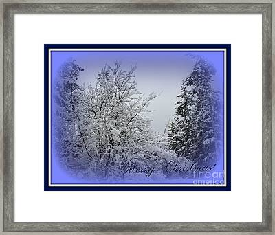 Blue Christmas Framed Print by Leone Lund