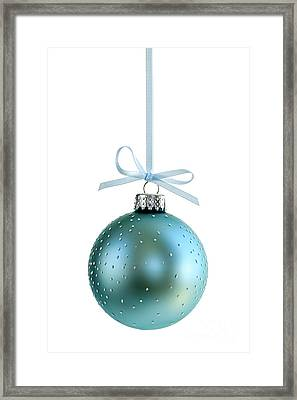 Blue Christmas Ornament Framed Print by Elena Elisseeva