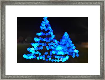 Blue Christmas Framed Print by Steve Myrick