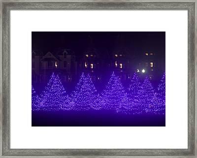 Blue Christmas Tree Forest Framed Print