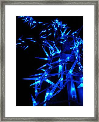 Blue Christmas Tree Framed Print by Michel Mata