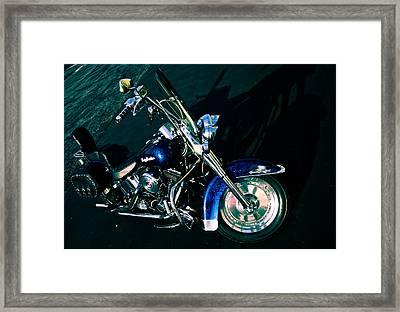 Blue Chrome Framed Print