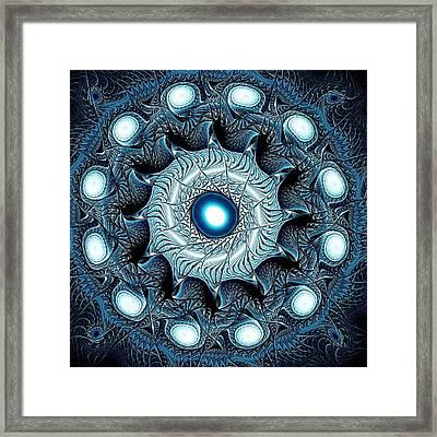 Blue Circle Framed Print