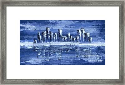 Blue City Framed Print by Svetlana Sewell