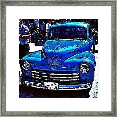 Blue Classic Framed Print