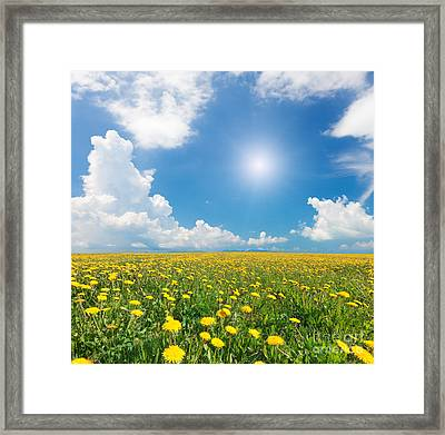 Framed Print featuring the photograph Blue Cloudy Sky by Boon Mee