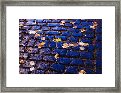 Blue Cobblestones Framed Print by Pati Photography