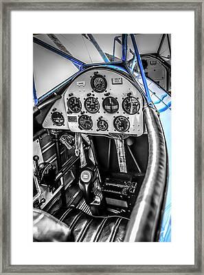 Blue Cockpit Framed Print
