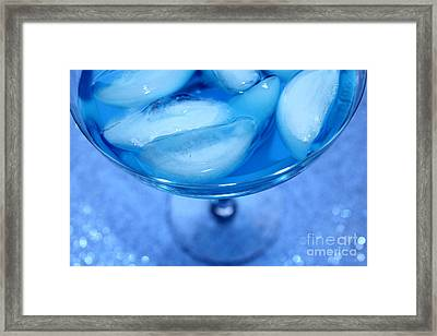 Blue Cocktail Framed Print by Krissy Katsimbras