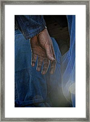 Blue Collar Framed Print by Odd Jeppesen