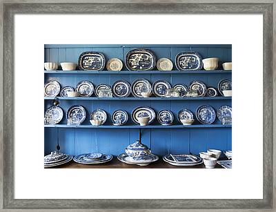 Blue Collection Framed Print