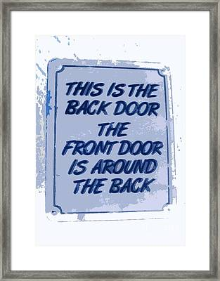 Blue Confusion Framed Print