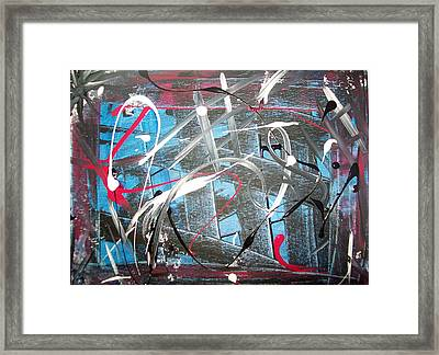 Blue Confusion Framed Print by Lora Mercado