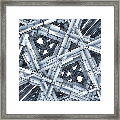 Blue Construction Framed Print