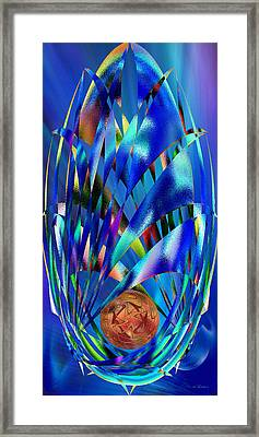 Blue Cosmic Egg - Abstract Framed Print