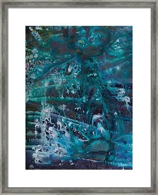 Blue Cosmos II Framed Print