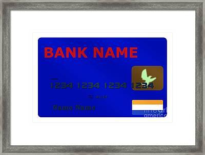 Blue Credit Card Framed Print
