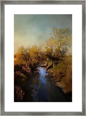 Blue Creek In Autumn Framed Print
