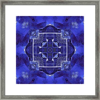 Blue Cross Radiance Framed Print by David Mckinney