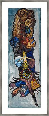 Blue Crow Feather- Crow Series Framed Print