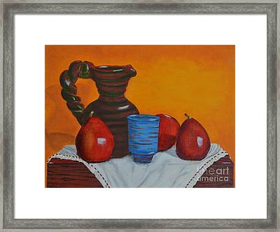 Blue Cup Framed Print