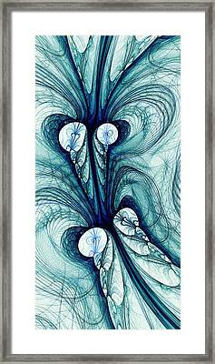 Blue Current Framed Print
