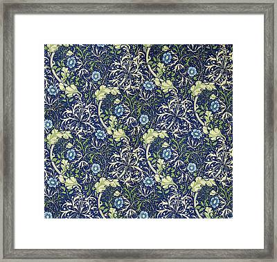 Blue Daisies Design Framed Print by William Morris