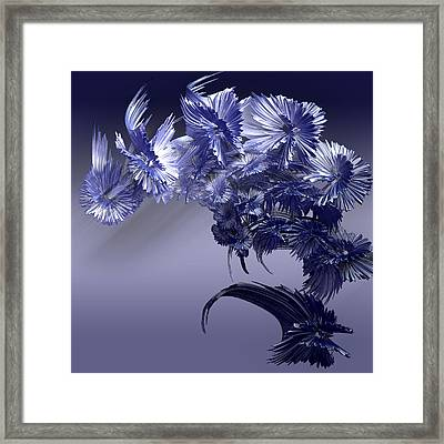 Blue Daisies Framed Print