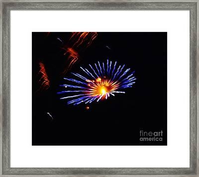 Blue Daisy Fireworks Framed Print by Brigitte Emme
