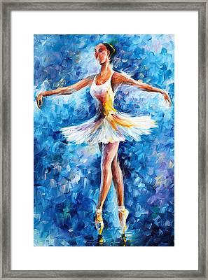 Blue Dance Framed Print by Leonid Afremov