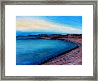 Blue Vista Framed Print by Daniel Dubinsky
