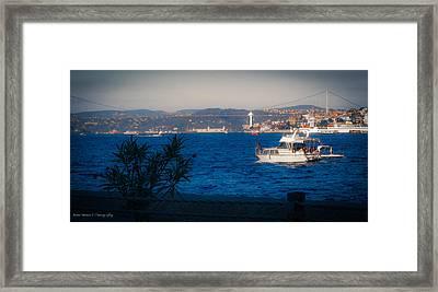 Blue Dawn On The Bosphorus Framed Print