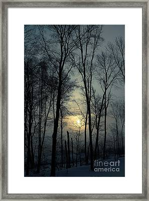 Blue Daybreak Framed Print
