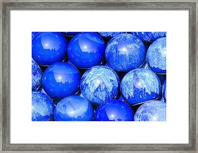 Blue Decorative Gems Framed Print by Tommytechno Sweden