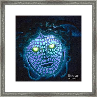 Blue Demon Framed Print