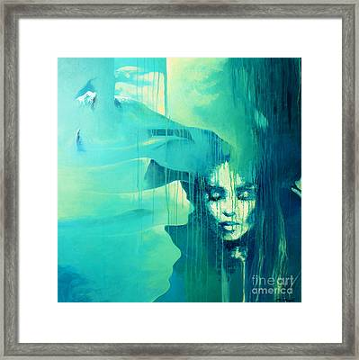 Blue Desert Framed Print by Lin Petershagen