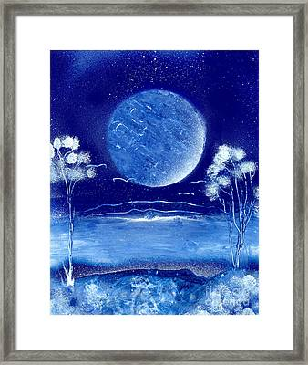 Blue Desert Night Framed Print by Marc Chambers