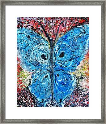 Blue Design Framed Print