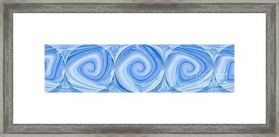 Blue Design Framed Print