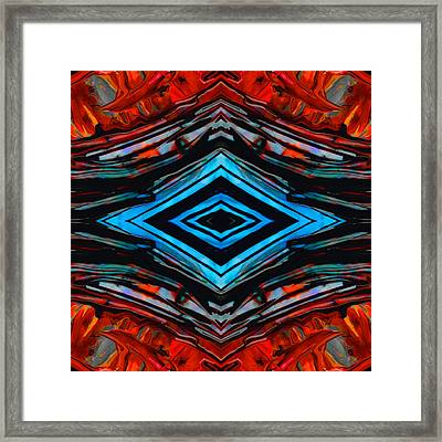 Blue Diamond Art By Sharon Cummings Framed Print